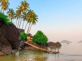 beautiful lagoon in the tropics, calm sea