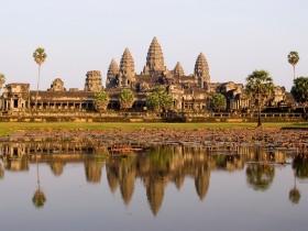 Angkor Wat in the Evening Light, Angkor Wat, Angkor, Cambodia