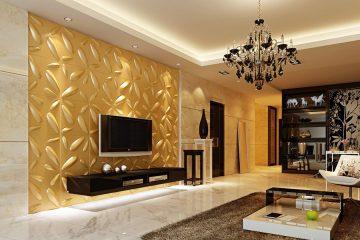 Những mẫu giấy dán tường đẹp cho phòng khách sáng và sang trọng