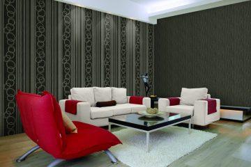 Giấy dán tường phòng khách chung cư đẹp và tinh tế
