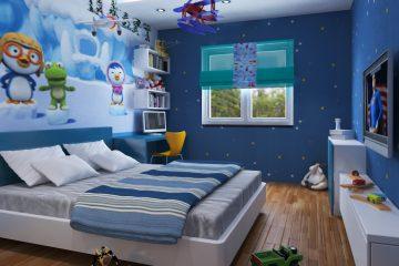 6 mẫu giấy dán tường phòng ngủ bé trai siêu đẹp