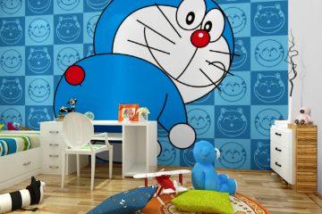Tuổi thơ bé đầy màu sắc với giấy dán tường hình Doraemon