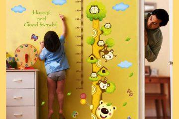 4 cách đơn giản tẩy bay vết bẩn trên hình dán tường cho bé yêu