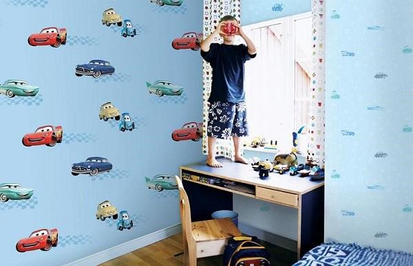 Mẫu tranh dán tường phòng bé trai