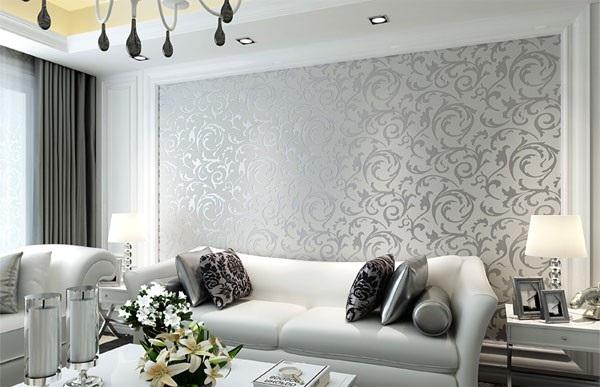 Giấy dán tường phòng khách đem lại không gian tiện nghi, độc đáo
