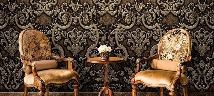 Căn phòng mang phong cách cổ điển thì nên chọn các mẫu giấy dán tường của châu Âu