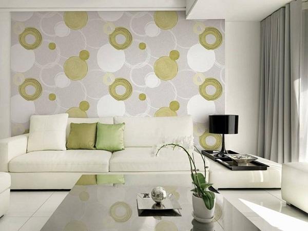 Giấy dán tường phòng khách của Đức để tạo nên điểm nhấn cho không gian