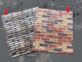 Xốp dán tường gạch cháy