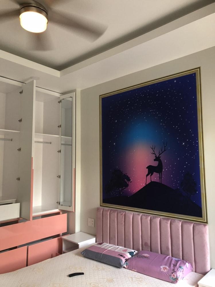 tranh dán tường đầu giường