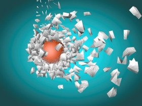 exploding sphere abstract 3d shpaes background