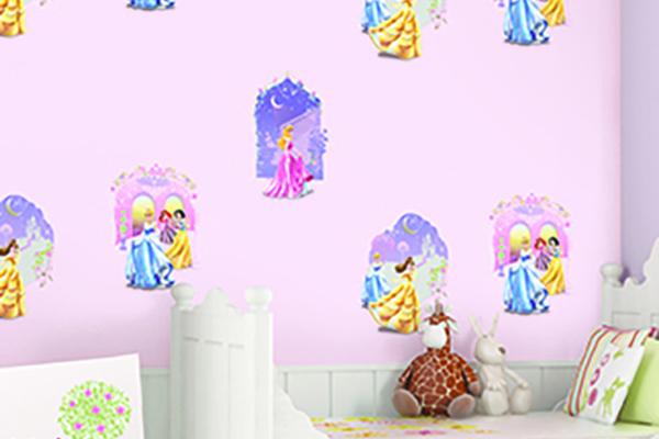 giấy dán tường cho bé gái