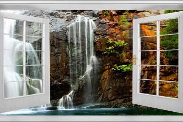 Mở ra thế giới sống động qua ô cửa sổ với tranh dán tường 3D