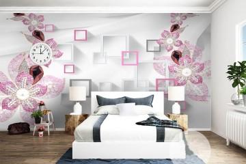 Làm đẹp giấc mơ với tranh dán tường phòng ngủ