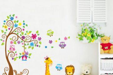 4 lợi ích tuyệt vời khi dùng giấy dán tường phòng ngủ cho bé