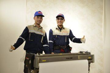 Thi công hoàn thiện giấy dán tường Nhật Bản Facco tại Hà nội
