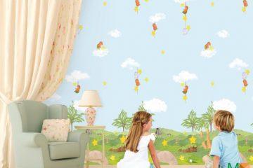 Xem báo giá các mẫu đẹp giấy dán tường trẻ em tại HCM và HN