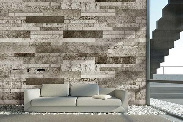 Giấy dán tường giả gỗ với các màu sắc được phối độc đáo