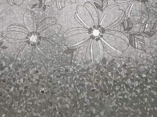 giấy dán kính 3D ED052 hình hoa trắng sữa