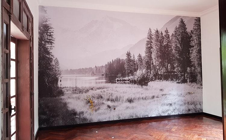 tranh dán tường đen trắng