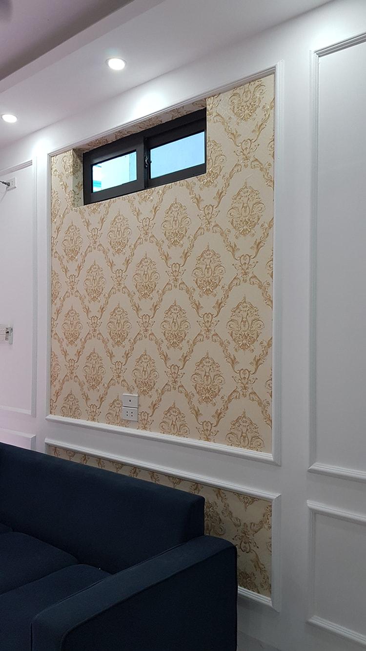 giấy dán tường tân cổ điển