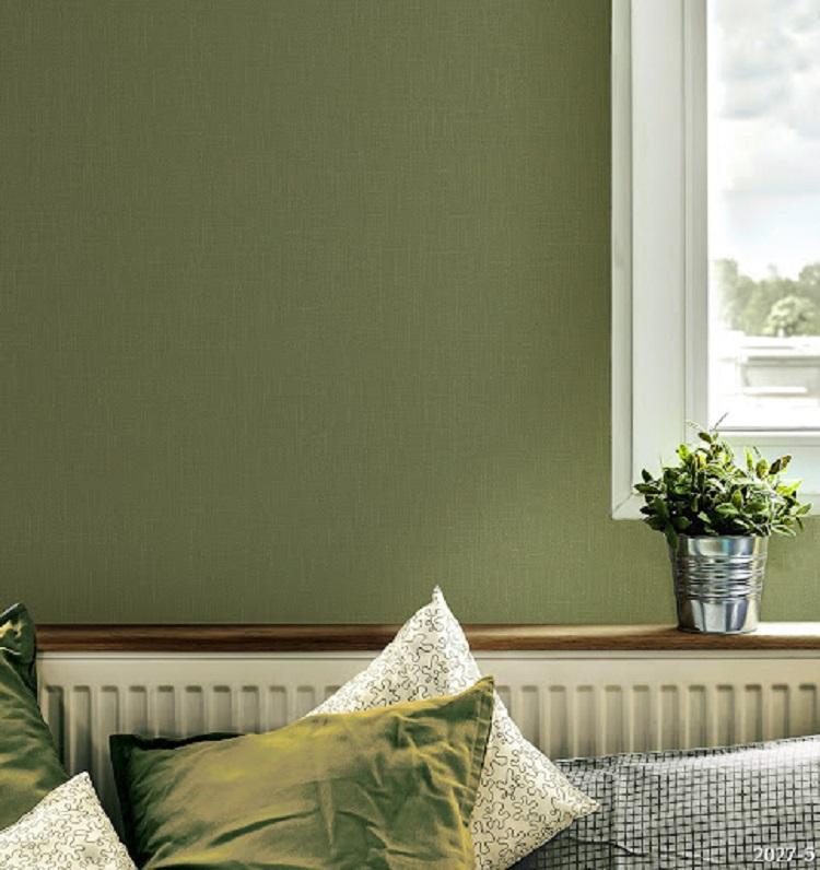 Giấy dán tường màu xanh lá mang đến không gian tươi mới, thư giãn