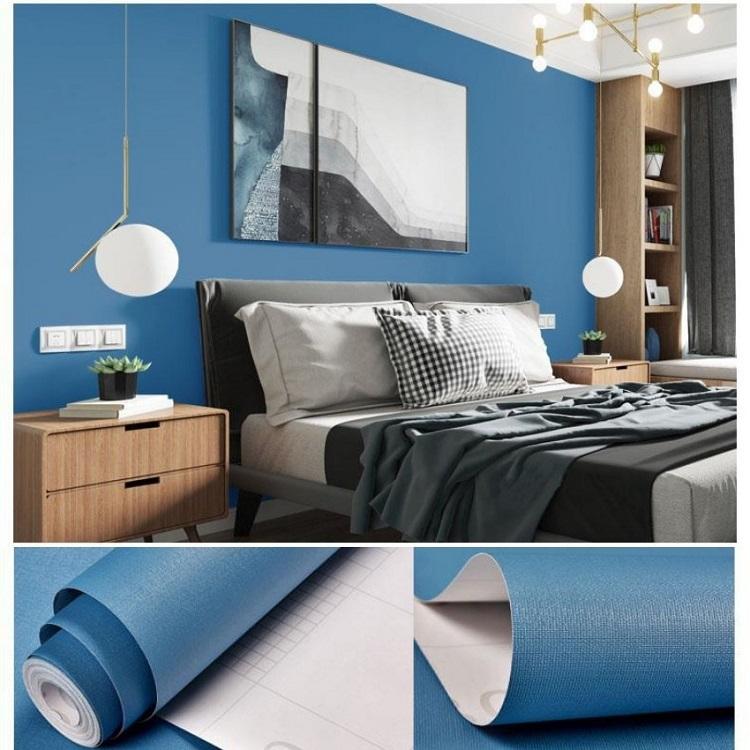 Giấy dán tường màu xanh biển đặc biệt thích hợp với những người mệnh Thủy