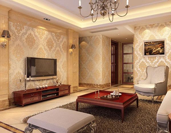 Chọn giấy dán tường kiểu Vintage với màu sắc hài hòa, kết hợp nội thất phù hợp