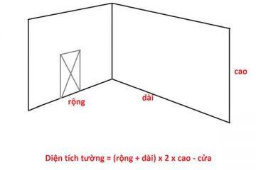 Hướng dẫn cách tính kích thước xốp dán tường theo diện tích